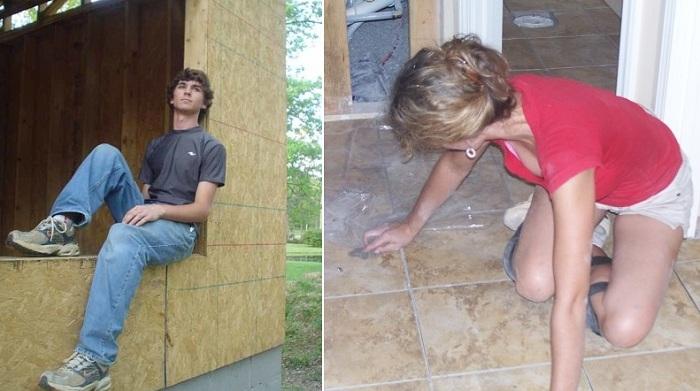 Все строительные работы Кара и дети выполняли сами.