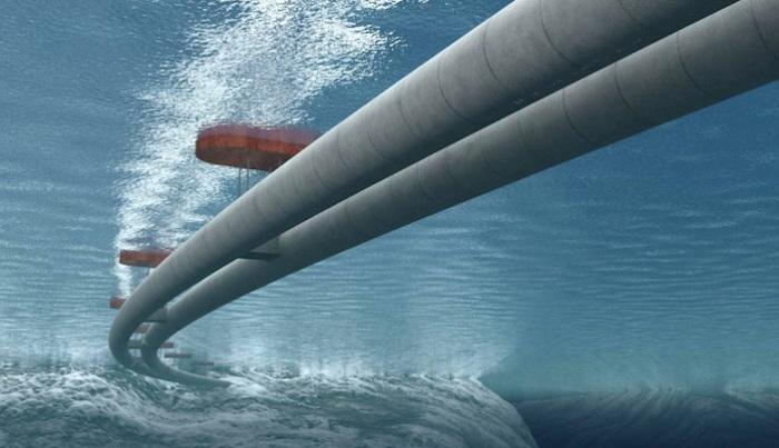 Амбициозный проект строительства подводного моста.