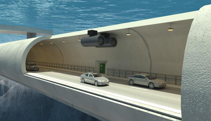 Проект первого в мире затопленного наплавного моста.