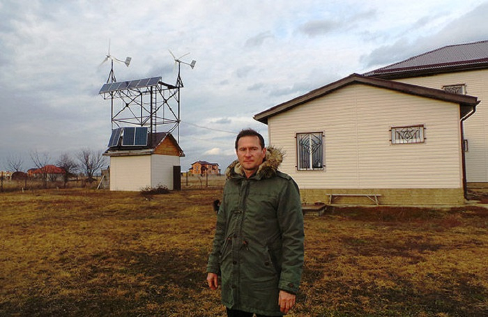 Николай Дрига - человек, который построил полностью автономный дом на Кубани.
