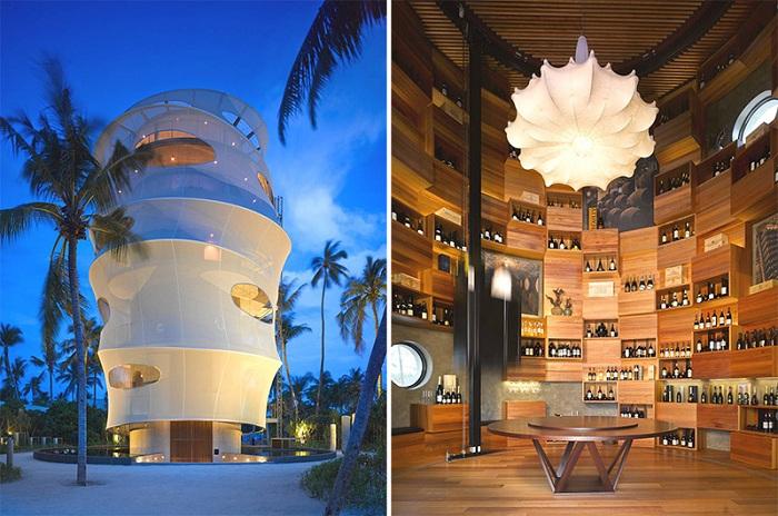 Tavaru Restaurant & Bar  -ресторан причудливой цилиндрической формы.