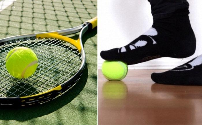 7 полезных упражнений с теннисным мячом.