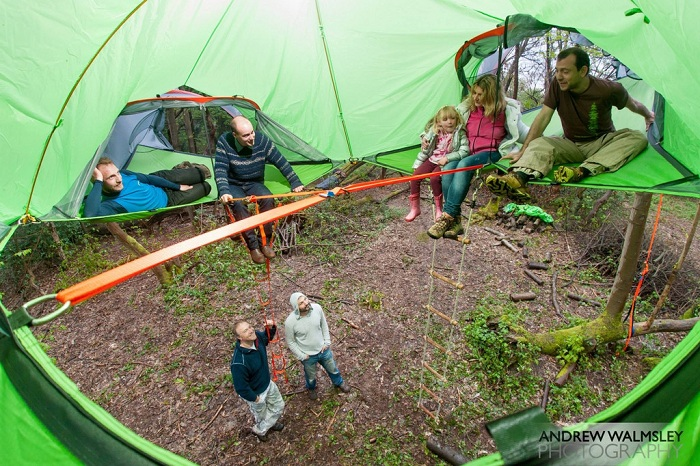6-местная подвесная палатка.