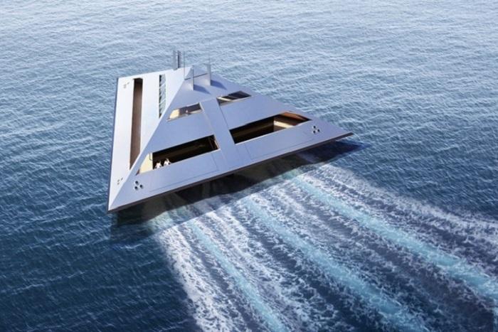 Скорость Tetrahedron Super Yacht сможет развиться до 43,7 миль в час.