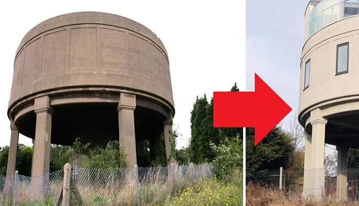 Заброшенную водонапорную башню новый владелец превратил в дом мечты.