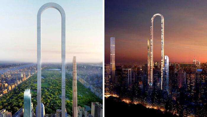 The Big Bend - амбициозный концепт небоскреба в Нью-Йорке.