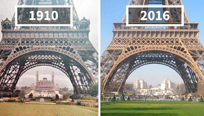 Как выглядели крупные города тогда и сейчас.