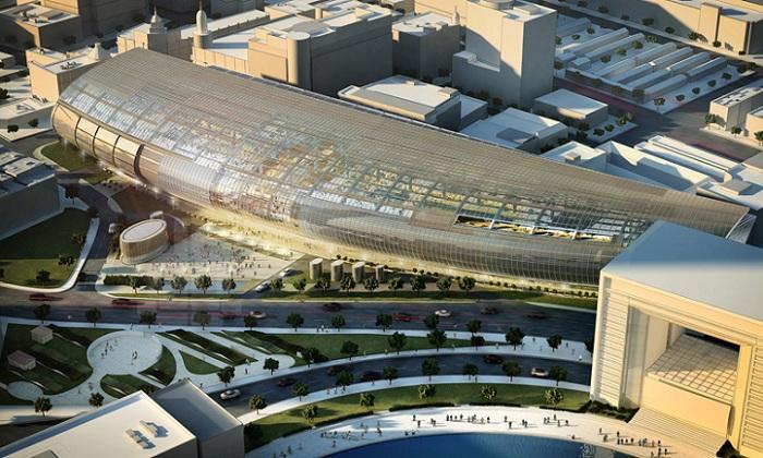 Торговый центр длиной 350 метров.