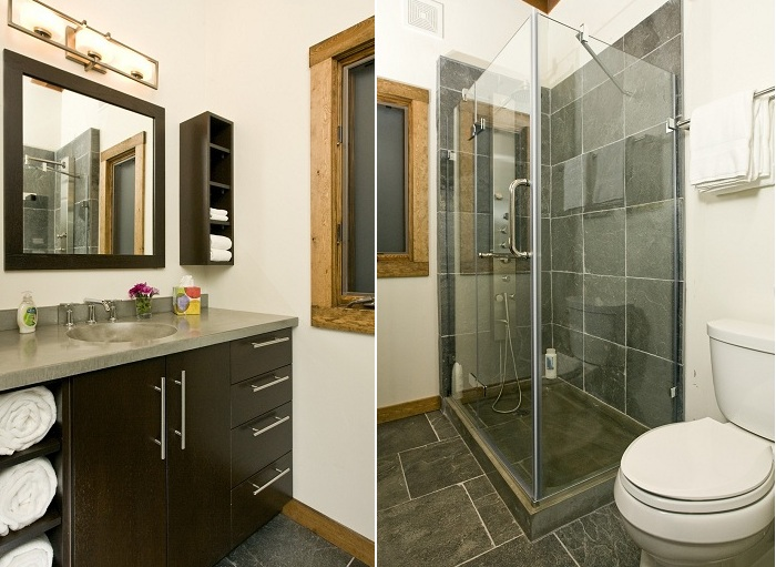 Wedge Cabin. Ванная комната.