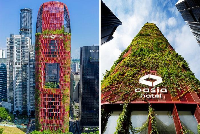 Оasia Hotel Downtown - проект отеля с вертикальным садом.