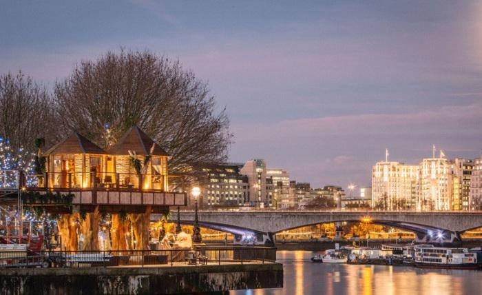 Африканские домики посреди городских «джунглей» Лондона.