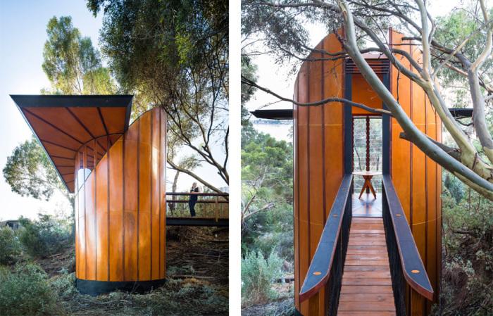 Деревянный павильон-студия для австралийского архитектора.