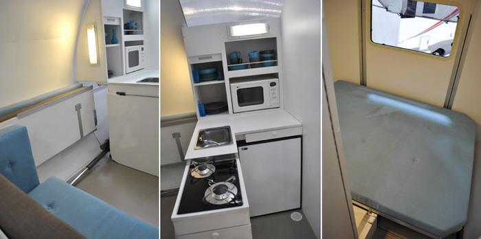 Кухня и столовая в складном кемпере BeauEr 3X 6.