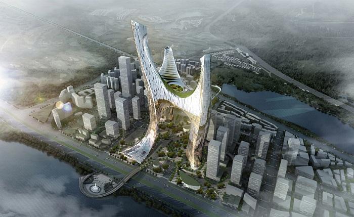 «1-3» - проект футуристического центра в Китае.