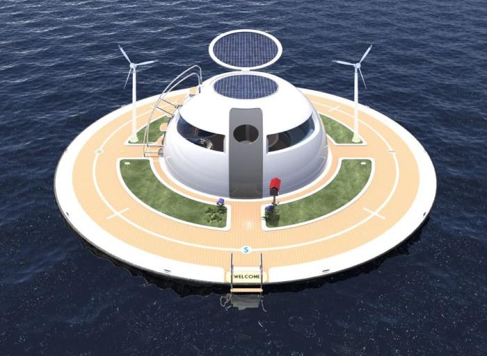 Солнечные батареи расположатся от откидной «крышке» шара.