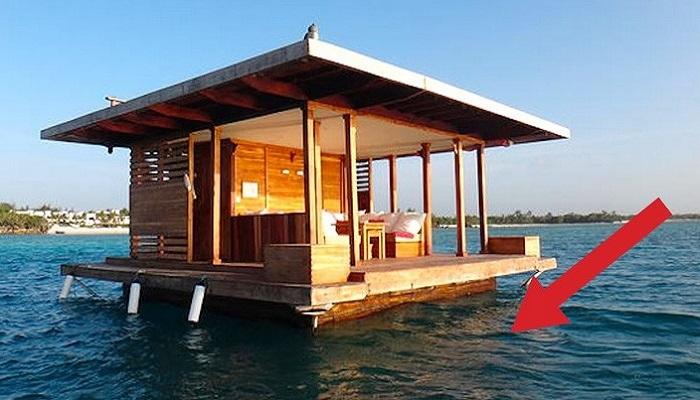 Домик на плаву у острова Пемба.
