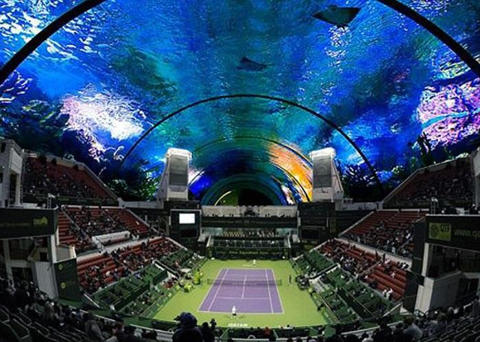 В Дубай построят первый подводный теннисный корт.
