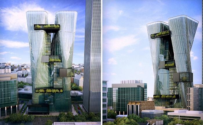 Офисный комплекс «The city rises».