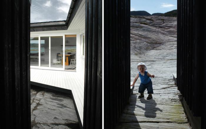 Cabin Vardehaugen - дом с контрастным фасадом.