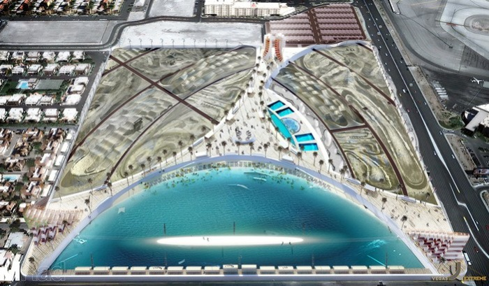 Будущий спортивный парк в Лас-Вегасе.