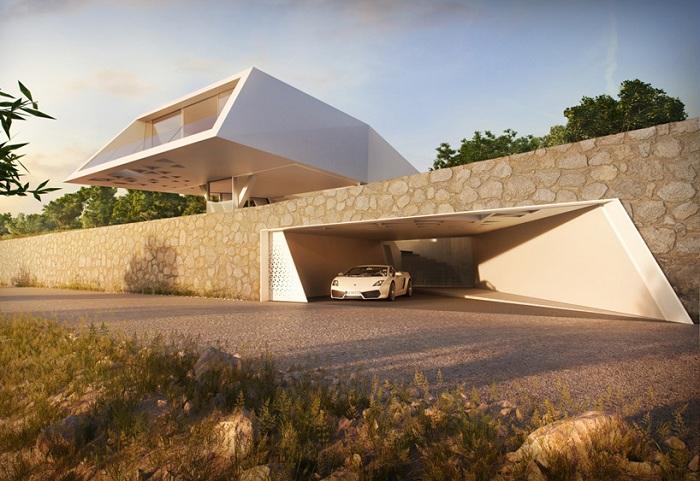 Асимметричная вилла на острове Родос.