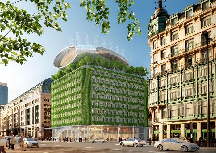 Botanic Center - проект реконструкции многоквартирного дома.