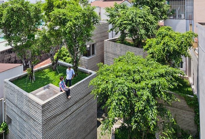 House for Trees - жилой комплекс с деревьями на крышах.