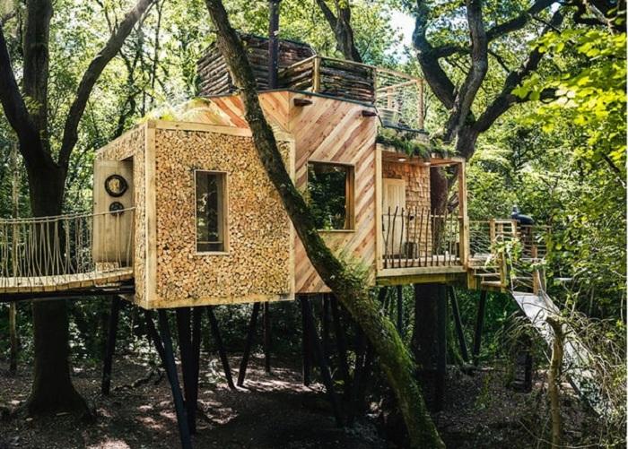 Дом на дереве Woodsman's Treehouse.