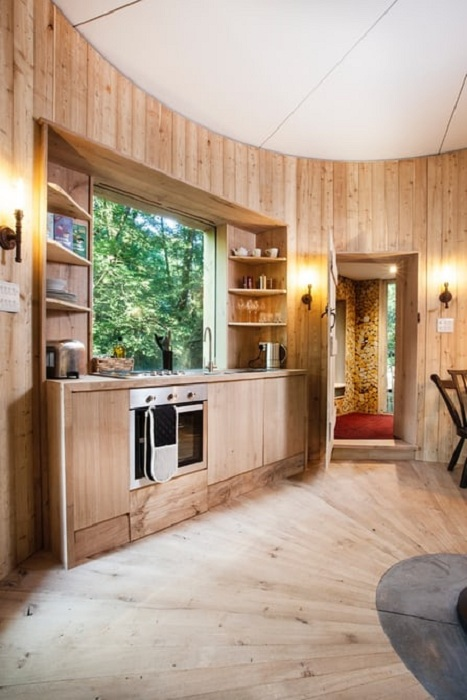 Будинок на дереві Woodsman's Treehouse.  Кухня.