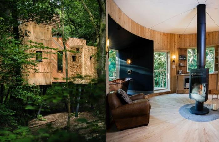 Woodsman's Treehouse - комфортабельный дом на дереве.