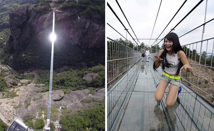 Самый длинный стеклянный мост в мире.