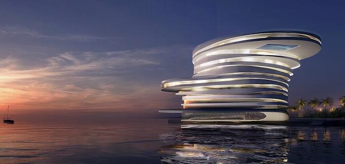 Helix - проект футуристического отеля в Абу-Даби.