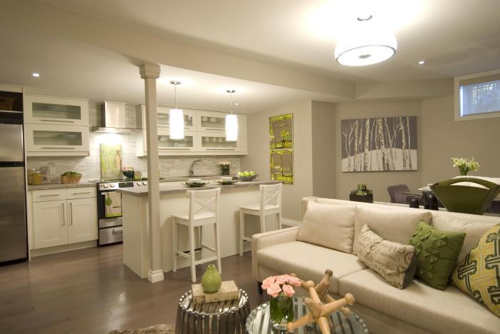 5 способов разместить кухню и гостиную в одной небольшой комнате.