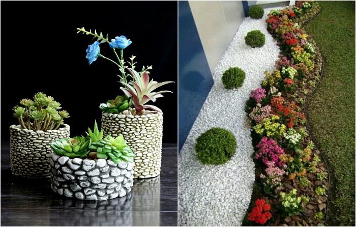 Лучшие примеры декора из морской гальки.