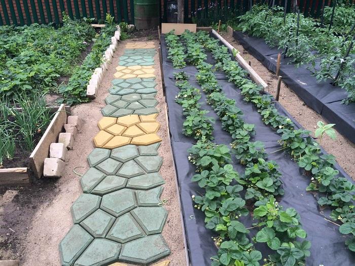 Ð�з материалов, которые всегда находятся под рукой у любого дачника, можно легко смастерить садовую дорожку.