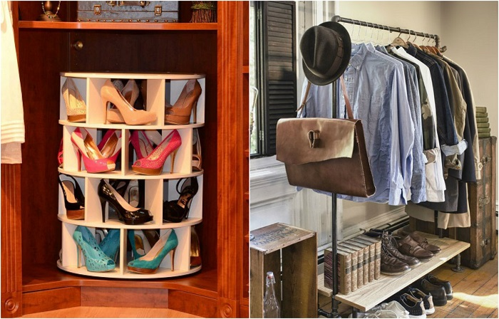 Идеи, которые помогут в обустройстве современной гардеробной комнаты.