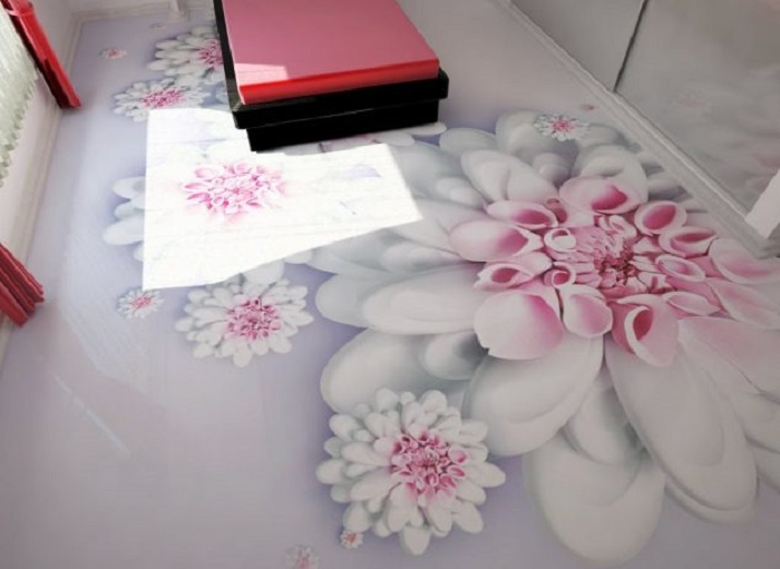 Бесшовное полимерное покрытие, которое выполнено методом налива.