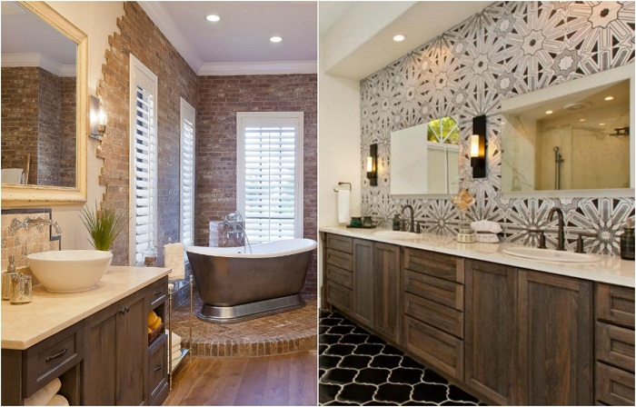 Великолепные идеи для современных ванных комнат.