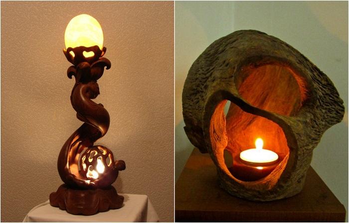 Великолепные светильники из натурального дерева, которые сделают дом уютнее.