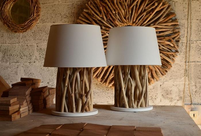 Простые светильники из деревянных веток, которые можно изготовить своими руками.