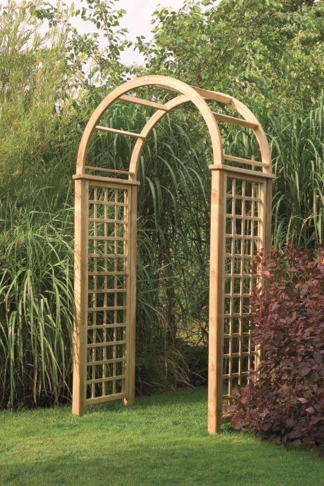 Садовый свод предназначен для декоративного оформления участка и разделения его на функциональные зоны.