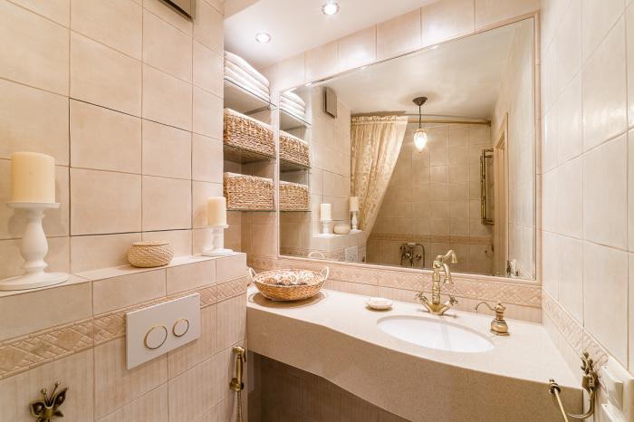 Пример оформления ванной комнаты, который обязательно нужно взять на заметку тем, кто планирует ремонт.
