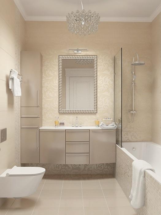 Ванная в минималистском стиле станет отличным решением для настоящих приверженцев классики.