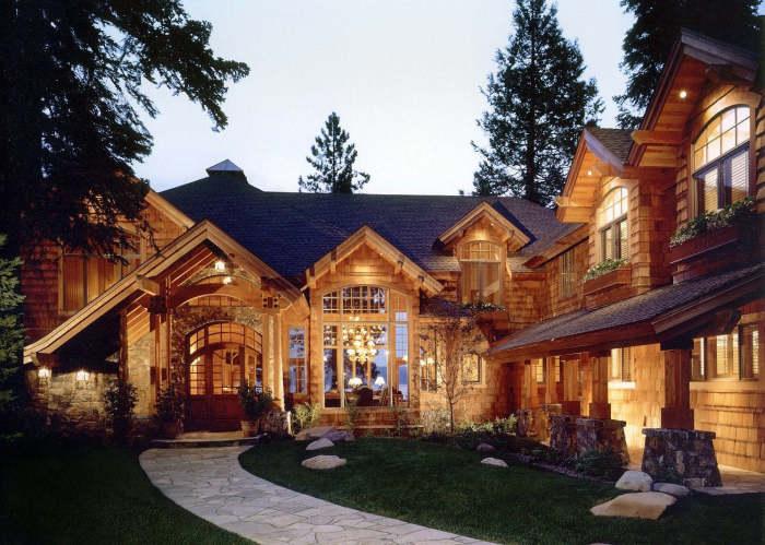 Современный рустикальный стиль может стать отличной основой для загородного дома.