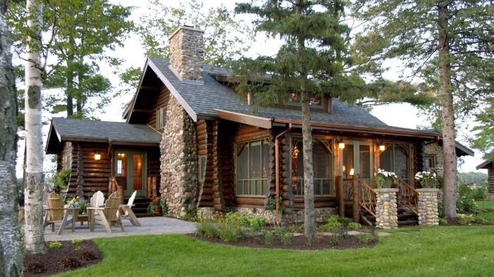 Природный камень и дерево в интерьере - универсальные и долговечные материалы, которые дополняют друг друга.