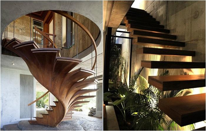 Великолепные лестницы, которые способны стать основным элементом в интерьере.