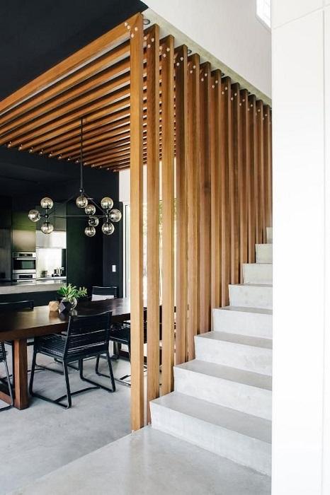 Новый взгляд на традиционную конструкцию лестницы.