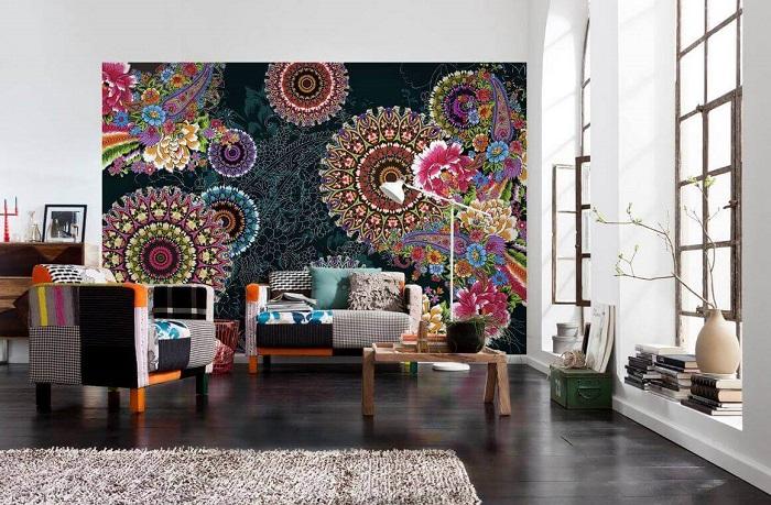 Акцентная 3D стена - это беспроигрышный приём, который поможет создать идеальный интерьер в гостиной комнате.