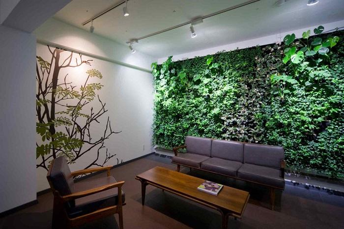 Вертикальное озеленение в помещении позволит создать собственный неповторимый и благоприятный микроклимат.