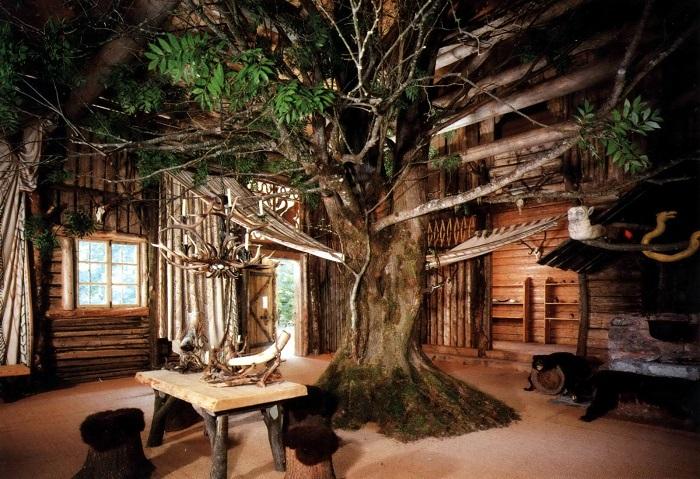 Загородный дом, который был построен вокруг большого дерева - идеальное место для тек, кто предпочитает всегда оставаться в атмосфере гармонии и спокойствия.